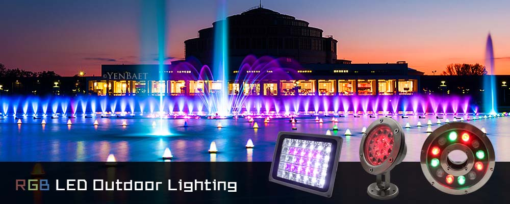 Lamfield Rgb Led Outdoor Lighting Possess Completed Driver To Equip Flood Light Underwater Plant Underground For Fountain